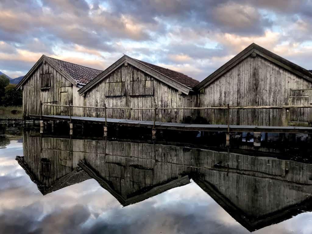 Bootshütten am Walchensee
