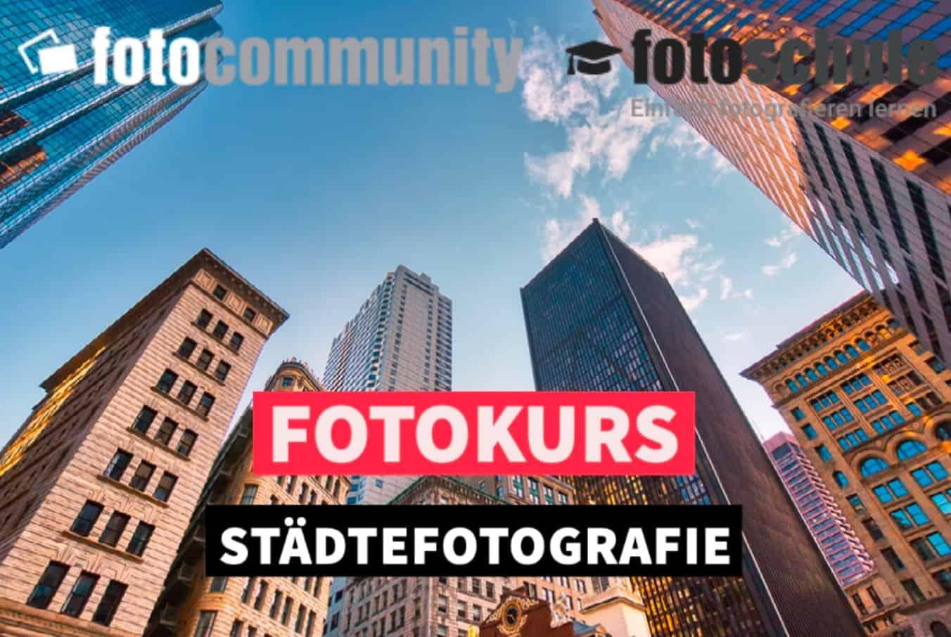 Bildschirmfoto Städtefotografie mit Logos